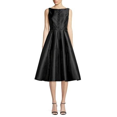 Sleeveless Fit-&-Flare Dress (Adrianna Papell Sheath Dress)