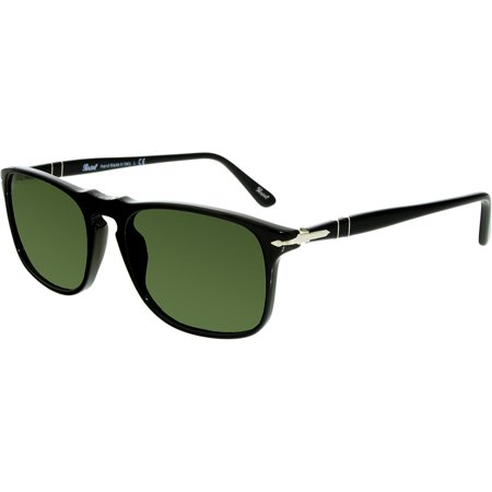 Persol Men's PO3059S-95/31-54 Black Square Sunglasses