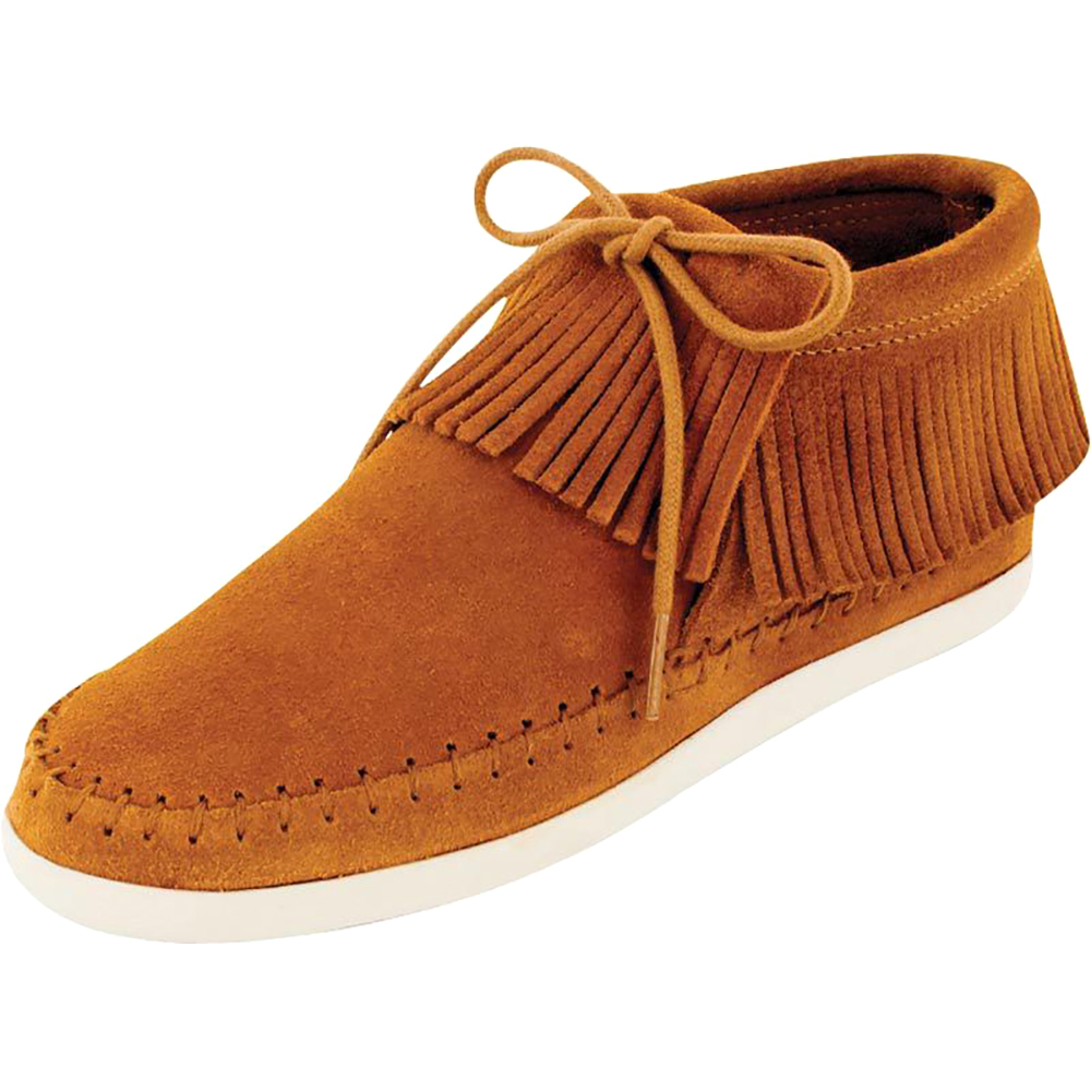Minnetonka Womens Brown Venice Sporty Fringe Mocs 3in Top by MINNETONKA