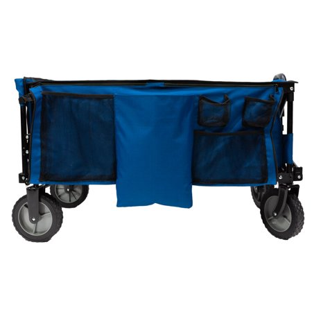 - Ozark Trail Quad Folding Camp Wagon with Tailgate, Blue