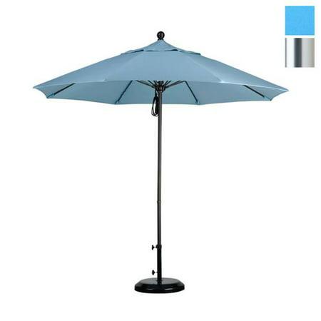 California Umbrella ALTO908002-SA26 9 ft. Fiberglass Market Umbrella Pulley Open S Anodized-Pacifica-Capri - image 1 of 1