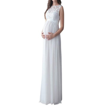 f5e9287eff Mosunx - Mosunx Pregnant Women Lace Long Maxi Dress Maternity Gown  Photography Props Clothes - Walmart.com