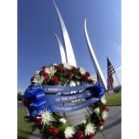 Memorial Day Wreath-laying Ceremony Print Wall Art By Stocktrek
