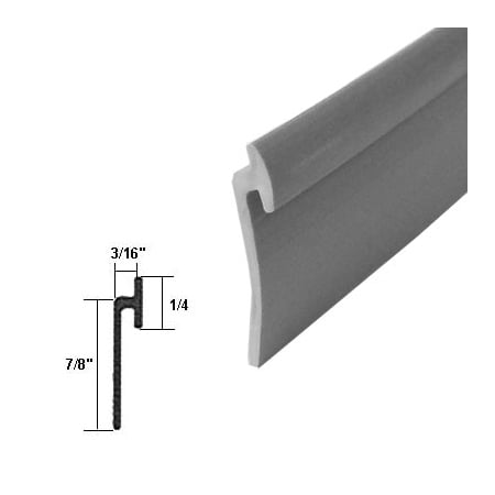 Angled Gray Vinyl Framed Shower Door Drip Rail 36 Quot Long