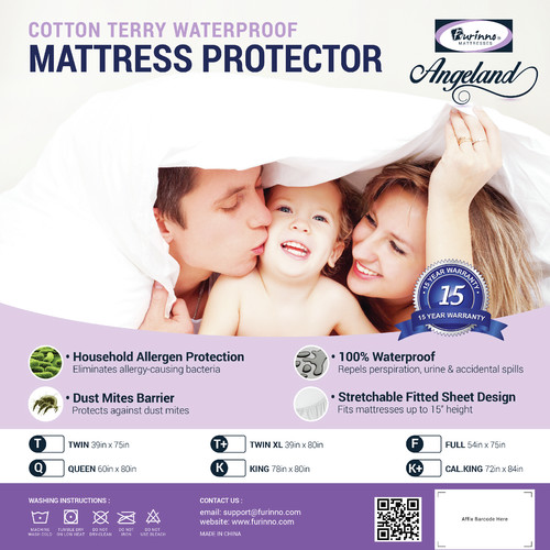 Furinno Angeland Terry Cloth Waterproof Mattress Protector by Furinno