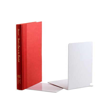 Design Bookends (Design Ideas Hidden Bookends, Set of 2, White)