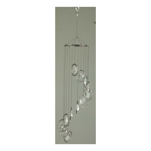 Smoke Round Ring with Octagon Crystals Wind Chime by Red Carpet Studios Ltd