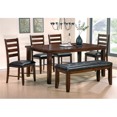 san paulo dining table set with 4 chairs bench