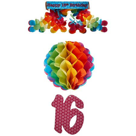 16th Birthday Party Canopy Party Accessory (1 count) (1/Pkg), This item is a great value By Beistle