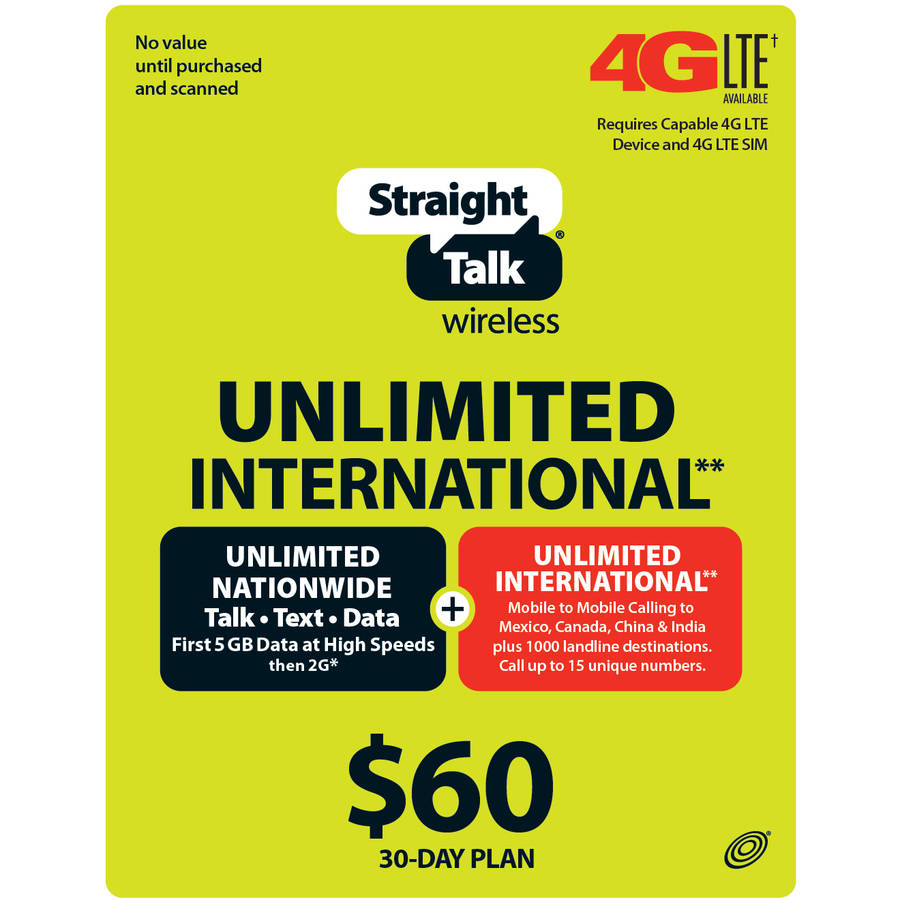 (Email Delivery) Straight Talk 30 Days Access International Unlimited Plan