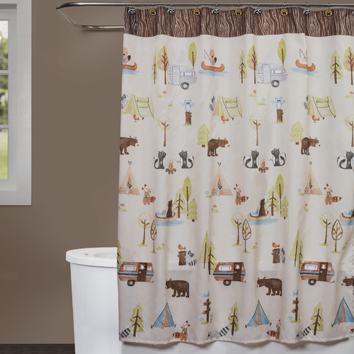 Saturday Knight, LTD Camping Critters Shower Curtain