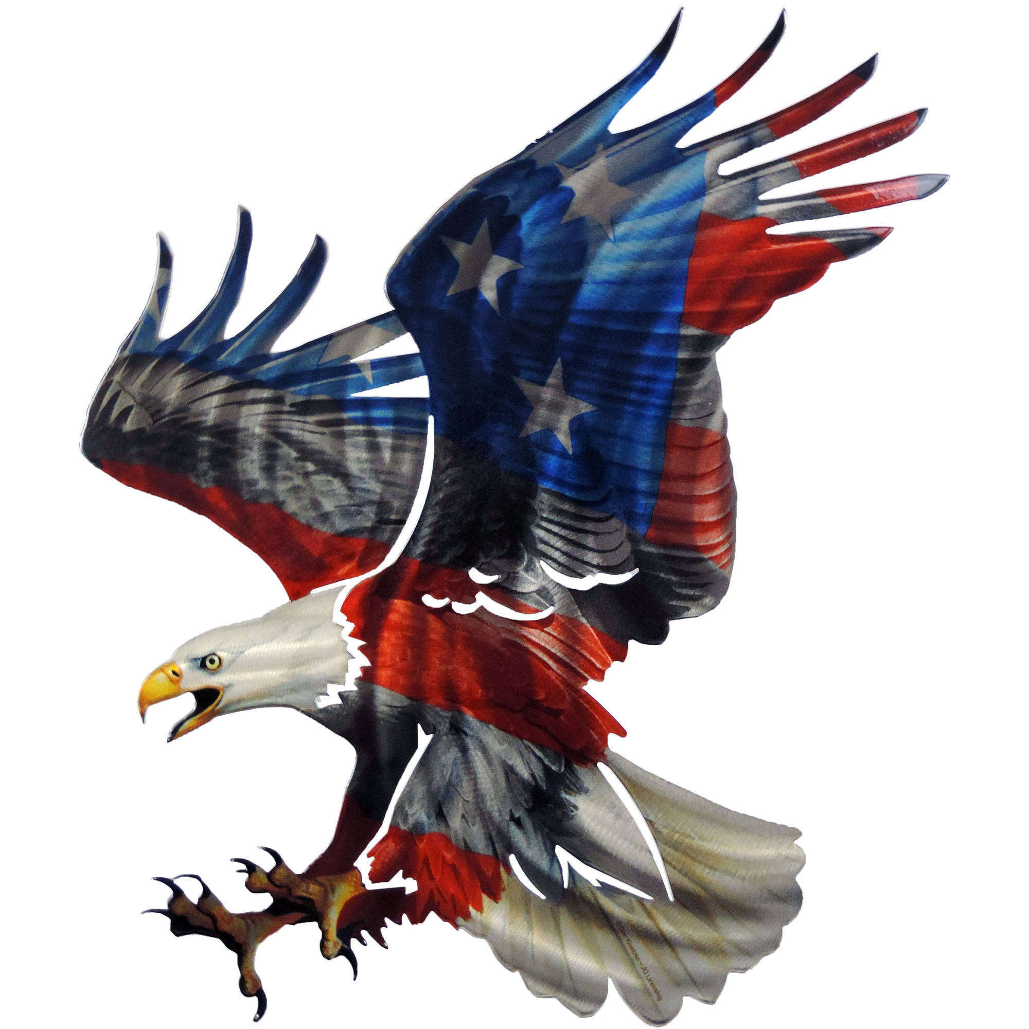 Eagle with American Flag 3D Steel Wall Art by Next Innovations