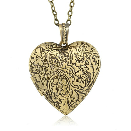 Locket Pendant Necklace Charm 1.5