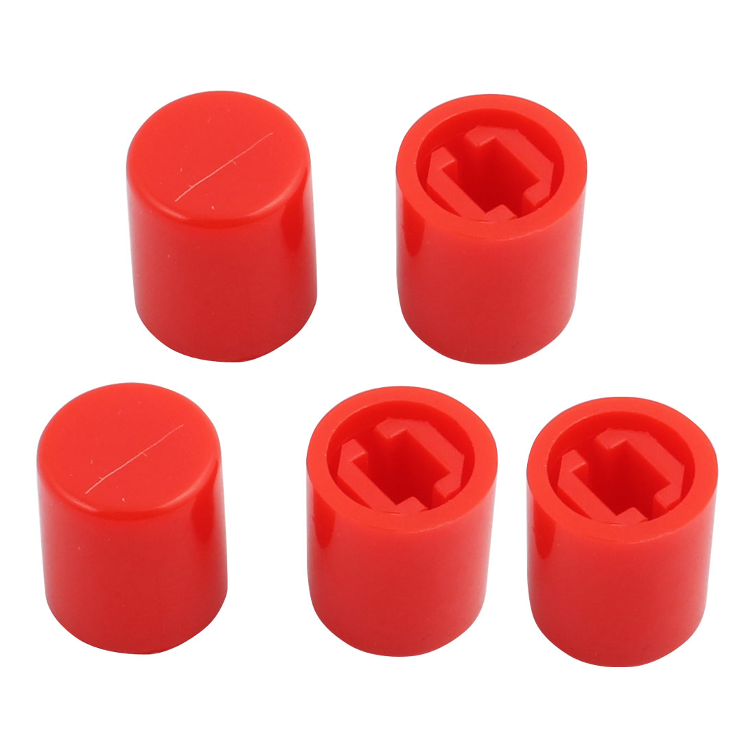 5Pcs Round Shaped Tactile Button Caps Covers f 9x10.5mm Tact Switch