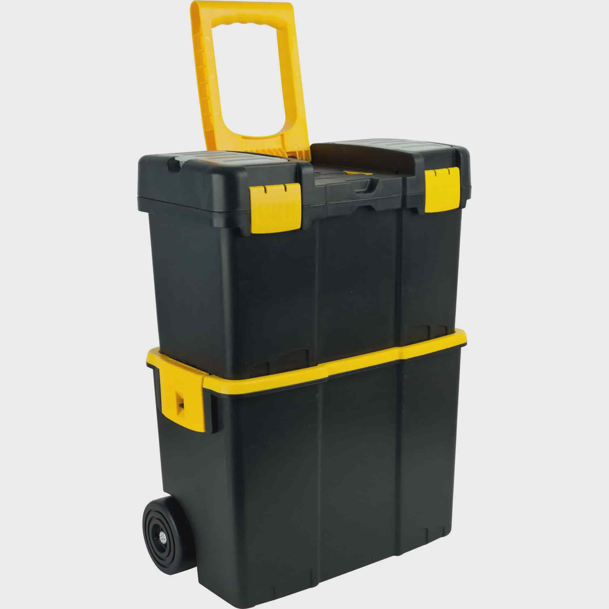 Stalwart Stackable Mobile Tool Box with Wheels by TRADEMARK GAMES INC