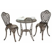 3-Pc Bistro Set in Bronze