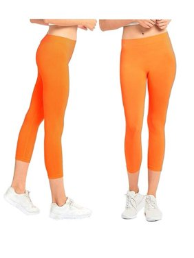 a030868645c8a Free shipping. Product Image Gilbin 2 Pack Women's Ribbed Waistband Capri  Length Leggings,One Size Fit, Super Stretch
