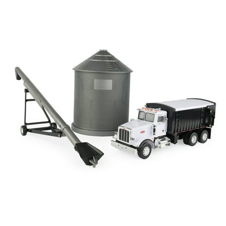 Peterbilt Toy Tractor, Grain Truck with Bin & Auger Set, 1:32 Scale