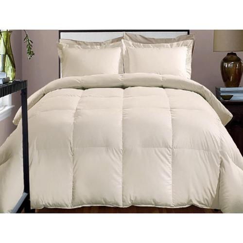 Hotel Grand 1000 Thread Count Cotton Rich Oversized Down Alternative Comforter Twin - Ivory