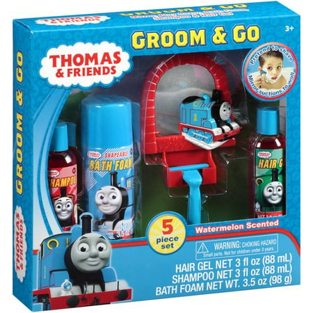 Thomas the train groom n go bath set walmartcom for Thomas the train bathroom set