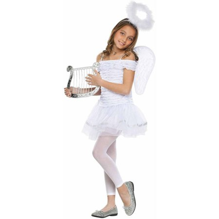 Little Angel Girls' Child Halloween Costume](Halloween Birthday Girl)