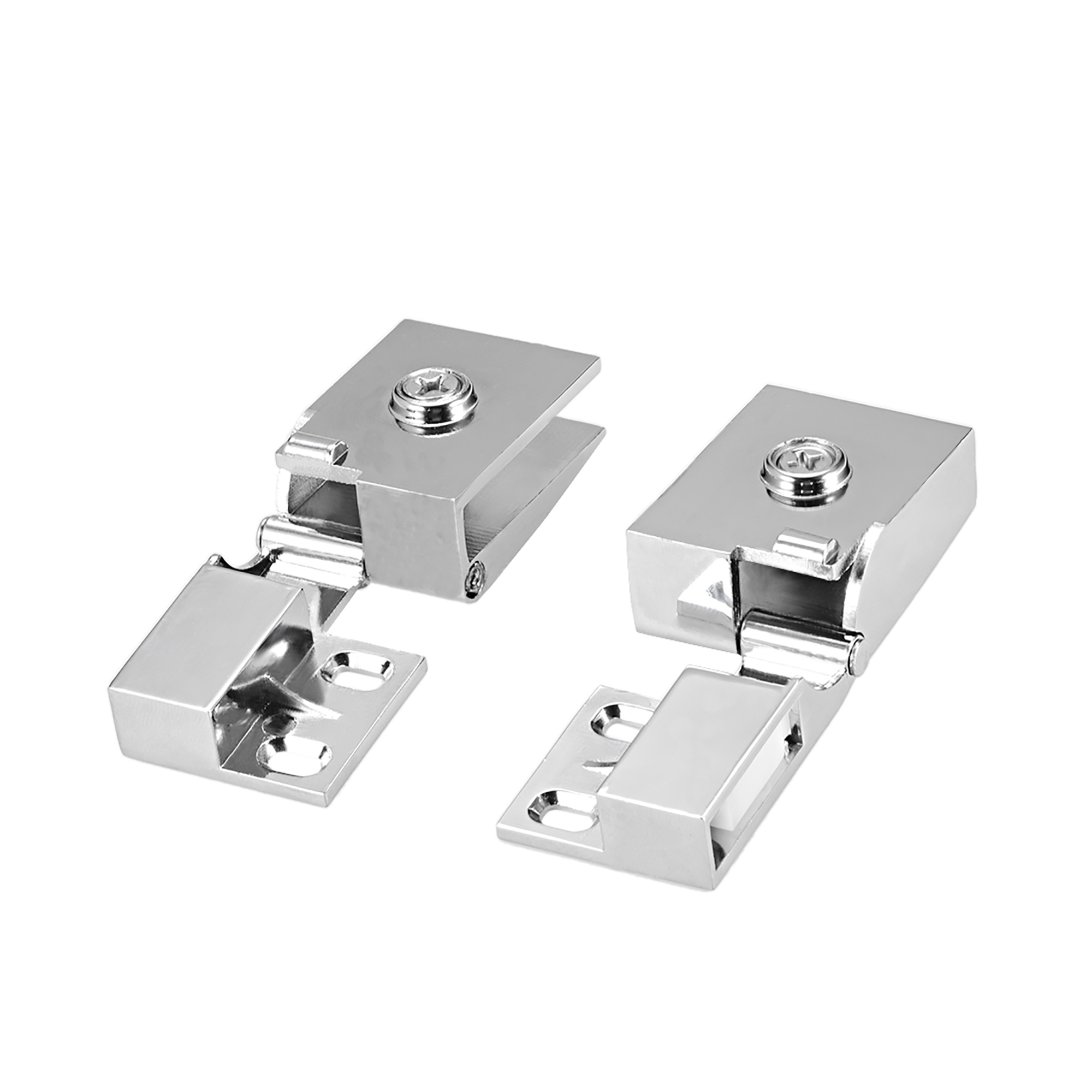 Uxcell 1Pair Glass Door Showcase Cabinet Door Hinge Glass Clamp for3-5mm Thickness - image 2 of 4