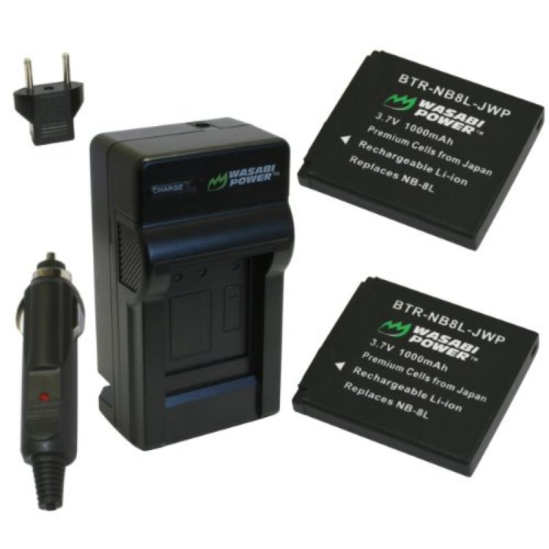 Wasabi Power Battery and Charger Kit for Canon NB-8L and ...