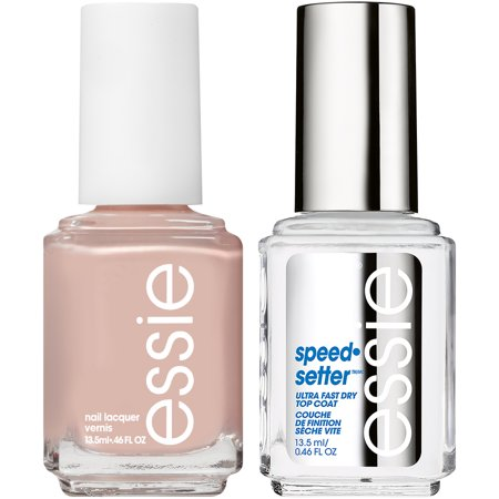 essie speed.setter top coat & nail polish kit, topless & barefoot + ...