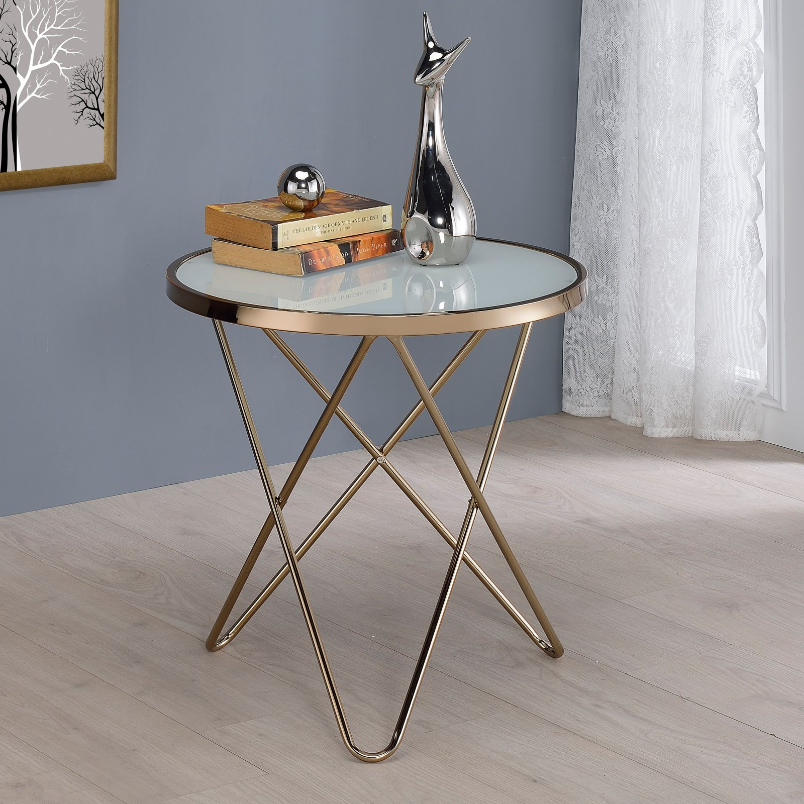 ACME Valora End Table, Multiple Colors by Acme Furniture