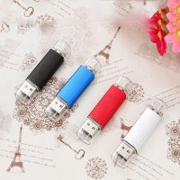 4 Pack 32GB USB 2.0 Flash Drive Memory Stick Thumb Drives (4 Mixed Colors: Black Blue Red Silver)