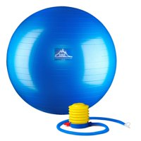 Black Mountain Products Professional Grade Stability Ball - Pro Series 1000lbs Anti-burst 2000lbs Static Weight Capacity, 55cm Blue