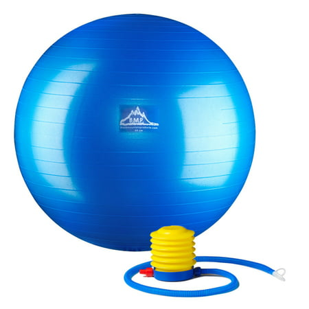 Black Mountain Products Professional Grade Stability Ball - Pro Series 1000lbs Anti-burst 2000lbs Static Weight Capacity, 55cm Blue](Ball Office Products)