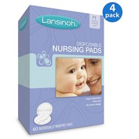 Lansinoh Disposable Nursing Pads, 60-Count, Buy 3 Get 1 as a Bonus