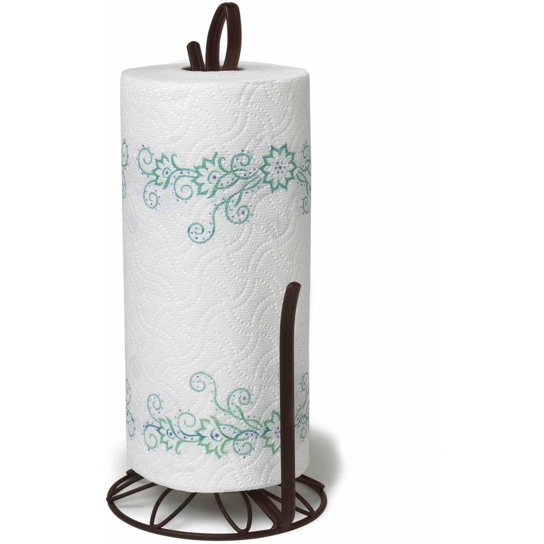 Spectrum Leaf Paper Towel Holder, Bronze