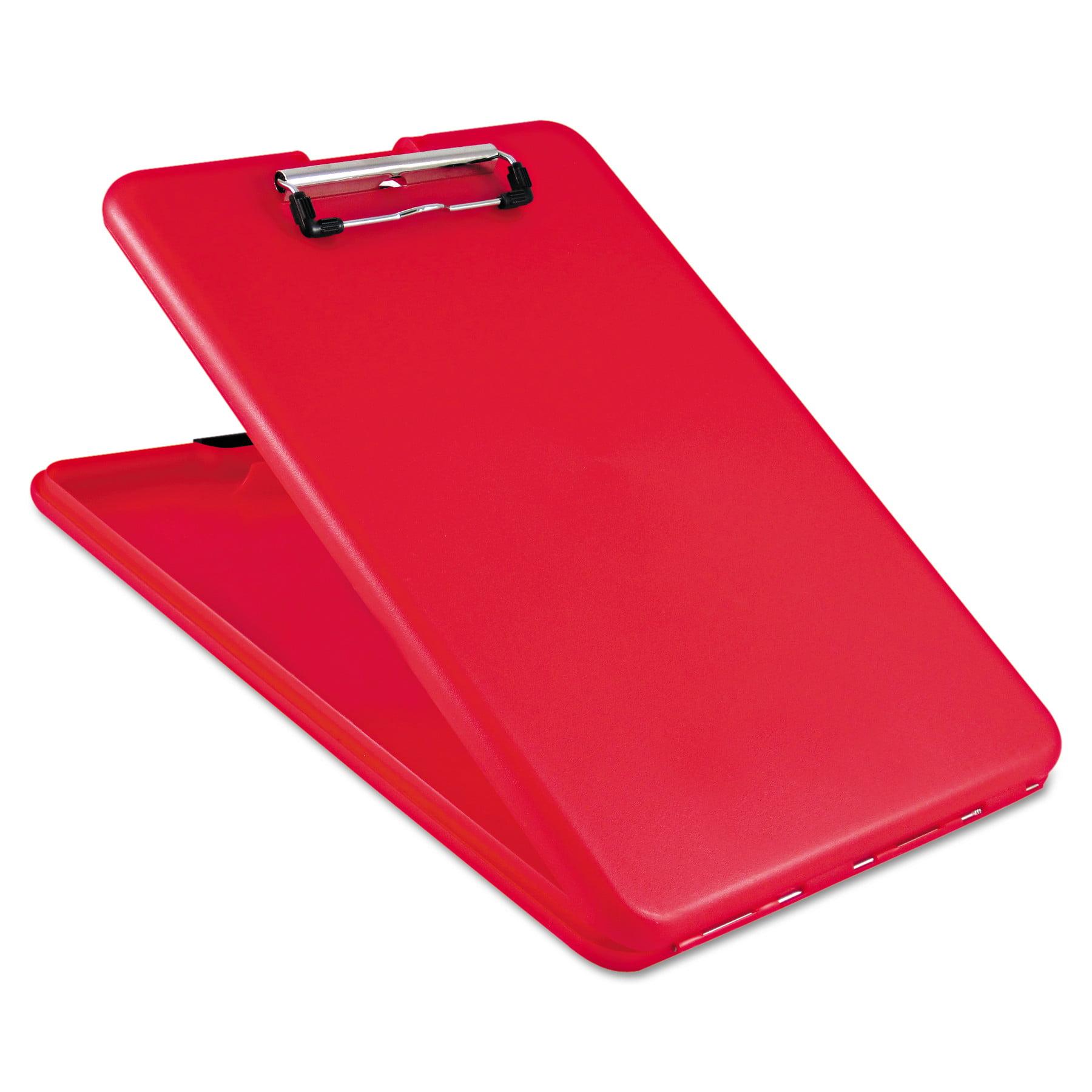 "Saunders SlimMate Storage Clipboard, 1/2"" Clip Cap, 8 1/2 x 11 Sheets, Red -SAU00560"
