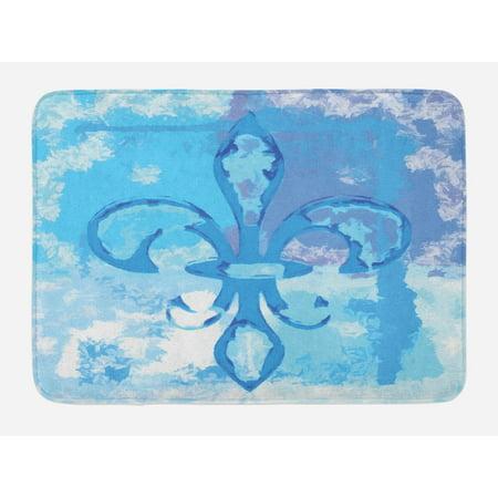 Fleur De Lis Bath Mat Ilration Of Lily Flower Like Frozen Heredic Ility Emblem Queenly