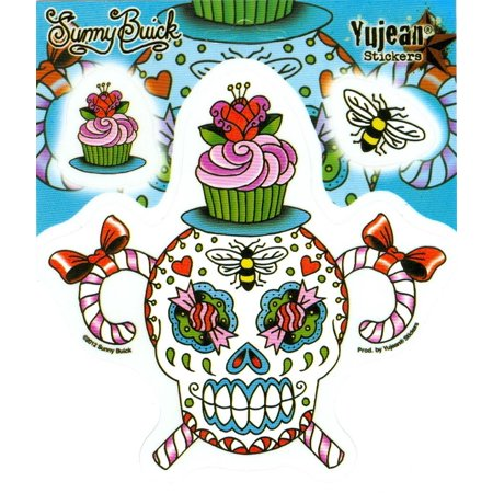 Sunny Buick - Sweet and Sticky Sugar Skull - Sticker / Decal for $<!---->