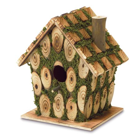 Birdhouse, Outdoor Wooden Birdhouses Build Form Plywood Wood And Eucalyptus (Sold by Case, Pack of 12)