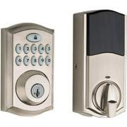 Kwikset 913 SmartCode® Traditional Electronic UL Keypad Deadbolt featuring SmartKey Security in Satin Nickel