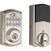 Kwikset 913 SmartCode Traditional Electronic UL Keypad Deadbolt featuring SmartKey Security in Satin Nickel