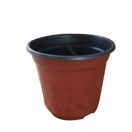 Image of Mr. Garden Plastic Nursery Pots,Plastic Flower Seedlings Nursery Pot With Nine Holes UD9.5-Inch x BD6.7-Inch x H7.7-Inch,Brick Red,100pcs