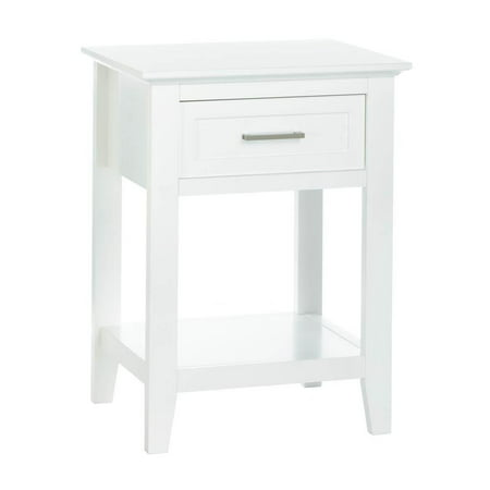 Sofa Side Table Wood White Crosstown Bedroom Modern With Drawer