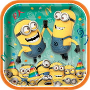 "9"" Square Despicable Me Minions Party Plates, 8ct"