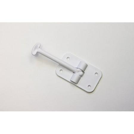 """2 Pack: RV T-Style Door Holder Catch 3-1/2"""" (3.5 inch) for Latch Holder Camper Trailer Cargo Hatch White"""
