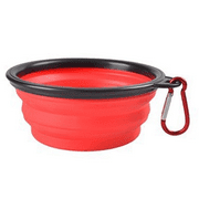 Multi Color Pet Dog Puppy Portable Silicone Collapsible Travel Feeding Bowl Food Water Dish Feeder