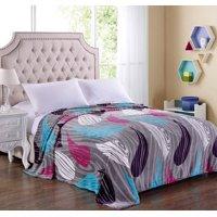 "Lush Elegance King Size Extra Soft Modern Art Microplush Blanket (102"" x 86"") - Paint Droplets"