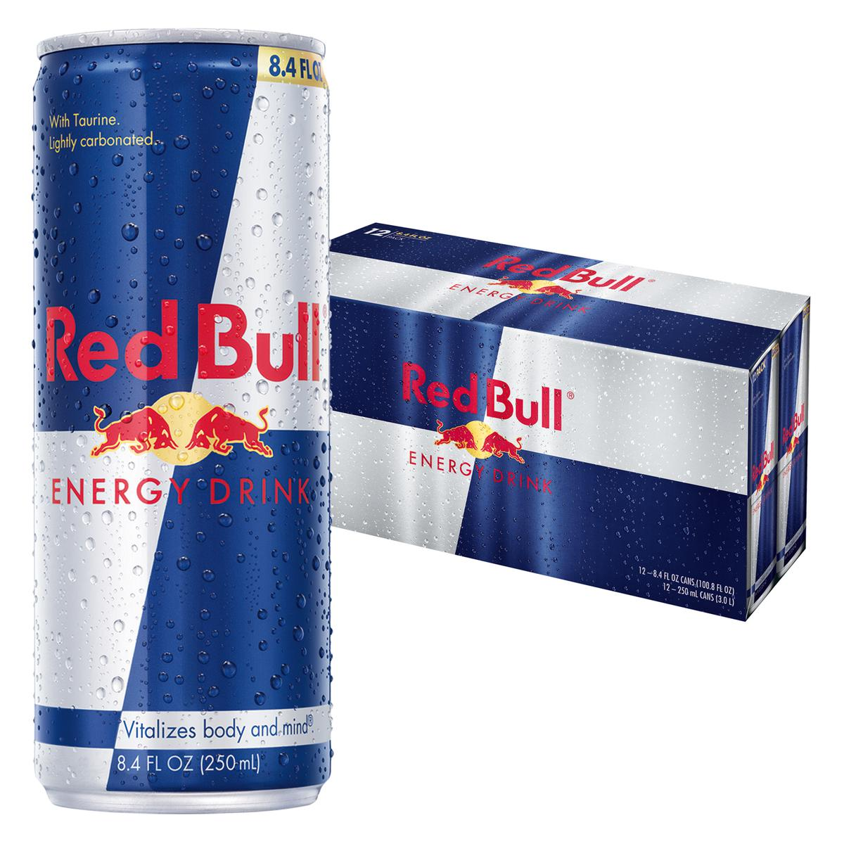 Red Bull Energy Drink, Original 8.4 Fl Oz, 12 Count