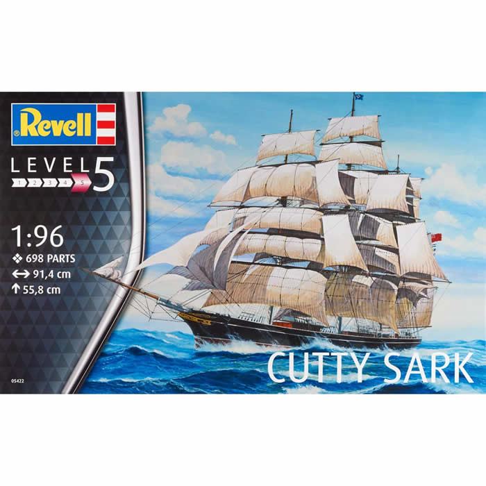 Cutty Sark Platic Model Kit 1 96 Scale Revell Germany by Revell Germany