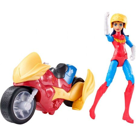 DC Super Hero Girls Wonder Woman & Motorcycle - Woman Superhero