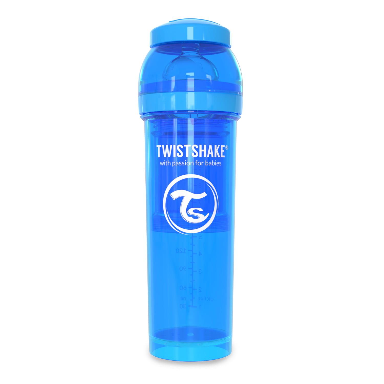 Twistshake Anti-Colic Baby Bottle & Accessories 330ml 11oz Blue Cookiecrumb by Twistshake